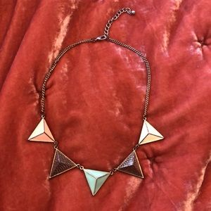 Geometric Pennant Necklace